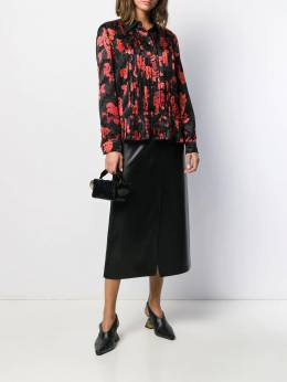 Tory Burch - floral print pleated shirt 85955996690000000000
