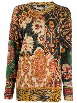 Etro - mixed print shimmer jumper 66998595596063000000