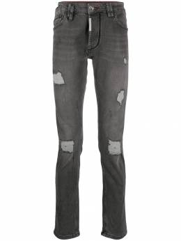 Philipp Plein - distressed slim-fit jeans CMDT9900PDE665N95539
