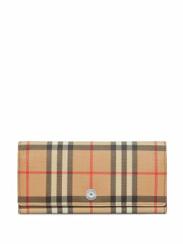 Burberry - Vintage Check continental wallet 53559566595600000000