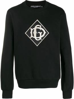 Dolce&Gabbana - embroidered logo patch sweater W6ZG3TWG955900860000