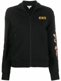 Kenzo - zipped floral embroidered sweater 0BL35696095565363000