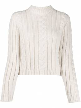 Ganni - cable knit jumper 85955066560000000000