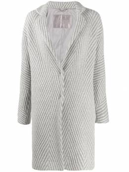 Herno - geometric pattern single-breasted coat 63DR3393695595655000