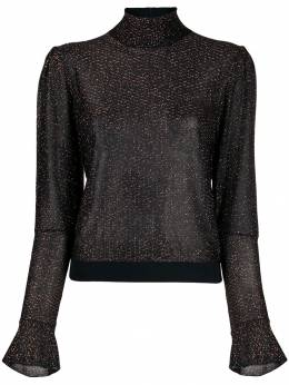 Chloé - metallic embroidered blouse 99WMP055369556553600