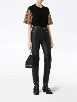 Burberry - Vintage Check sleeve oversized T-shirt 58959566359500000000