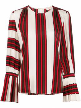 Tory Burch - striped flare-sleeve blouse 06955986600000000000