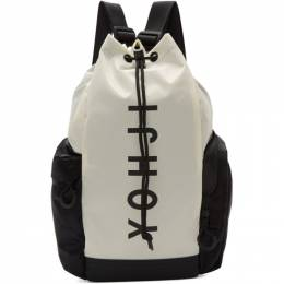 Y-3 Off-White and Black Mini Yohji Letters Backpack 192138F04200201GB