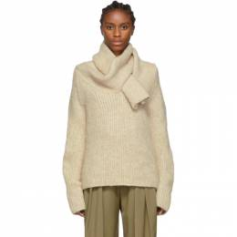 J.W. Anderson Beige Shawl Collar Sweater 192477F09600101GB
