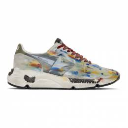 Golden Goose Deluxe Brand Multicolor Dripping Paint Running Sole Sneakers G35MS963.G8