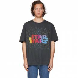 Etro Black and Green Star Wars Edition Logo Paisley T-Shirt 192267M21309901GB