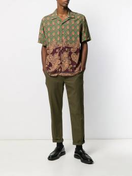 Stussy - graphic print shirt 6669RAYONBURGUNDY955