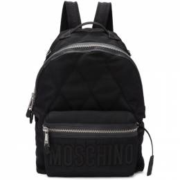 Moschino Black Quilted Nylon Backpack 192720M16600501GB