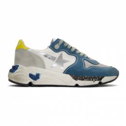 Golden Goose Deluxe Brand Blue and Grey Running Sole Sneakers G35MS963.G6