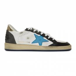 Golden Goose Deluxe Brand White and Black Ball Star Sneakers 192264M23703508GB