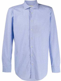 Etro - grid-print regular shirt 59330395596893000000