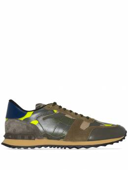 Valentino - Garavani Rockrunner leather camouflage print sneakers S6303TCC939395660000