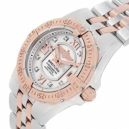18K Rose Gold MOP Diamond and Stainless Steel Galactic C71340 Women's Watch 30MM Breitling 227176