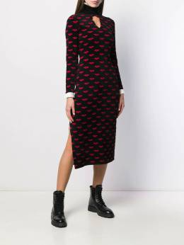 Temperley London - textured lips patterned dress SUZ53995955369350000