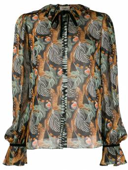 Temperley London - Maggie leaf print shirt MAG53506955366990000