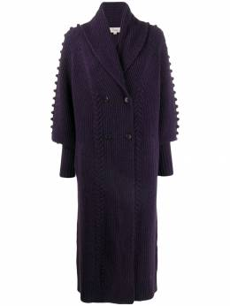 Temperley London - bobble detail long cardi-coat CHK53980955698360000