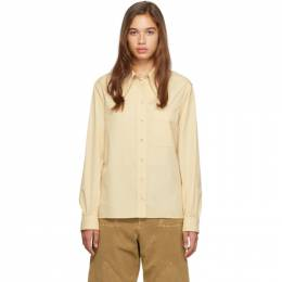 Lemaire Yellow Pointed Collar Shirt 192646F10900202GB