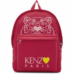 Kenzo Pink Limited Edition Large Tiger Backpack 192387M16601901GB