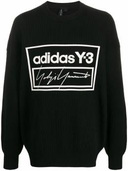 Y-3 - logo print ribbed sweater 33595539368000000000