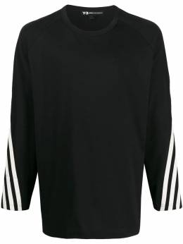 Y-3 - tri-stripe printed longsleeved T-shirt 59095539336000000000