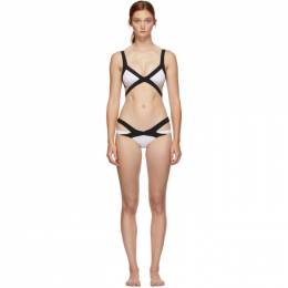 Agent Provocateur	 Black and White Mazzy Bikini 192281F10500402GB