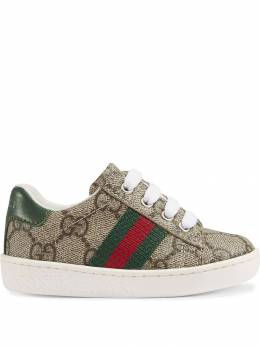 Gucci Kids кеды с узором GG Supreme 4331479C210