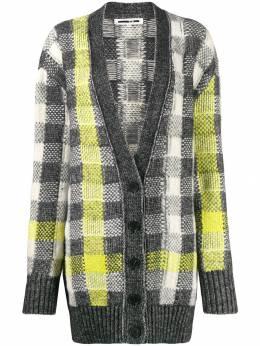 McQ Alexander McQueen - checked knit cardigan 098RNK09955396050000