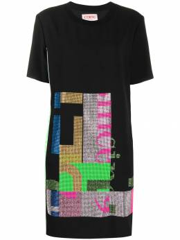 Iceberg - rhinestone-embellished T-shirt dress 95395955056690000000