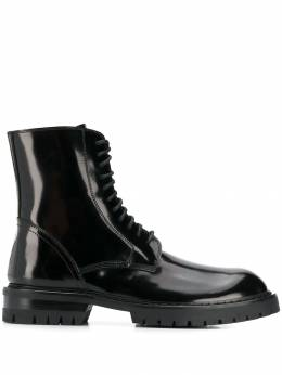Ann Demeulemeester - patent lace-up ankle boots 55096336955999390000