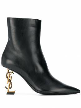 Saint Laurent - logo heel pointed boots 9039FZDD955995530000