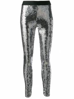 Nude - sequin embroidered cropped leggings 36639550660600000000