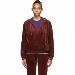 Opening Ceremony Red Velour Wrap Hoodie F19THI12508