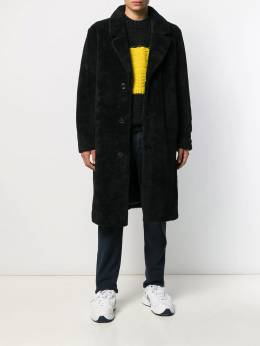 Stand Studio - shearling single breasted coat 05963695509909000000