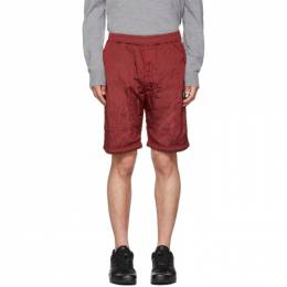 Stone Island SSENSE Exclusive Red Bermuda Shorts 192828M19301806GB