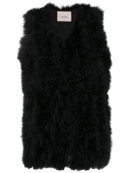 Twin-Set - feather gilet TP056695530683000000