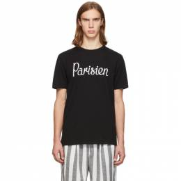 Maison Kitsune Black Parisien T-Shirt 192389M21302001GB