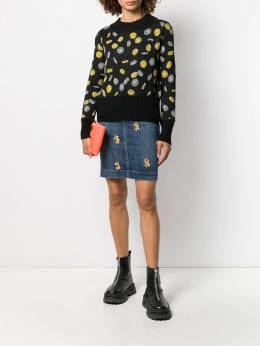 Moschino - coin print cropped jumper 99556995505596000000