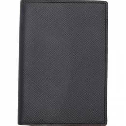 Smythson Navy Panama Passport Holder 192087M16200101GB