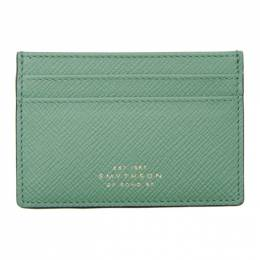 Smythson Blue Panama Card Holder 192087M16300601GB