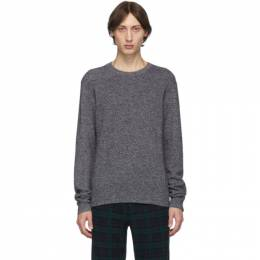 rag and bone Grey Cashmere Haldon Crewneck Sweater rag and bone 192055M20101003GB