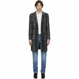 Eidos White Wool Spotted Over Coat Eidos 192223M17600501GB