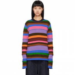 Comme des Garcons Shirt Multicolor Small Stripe Mix Sweater 192270F09600303GB
