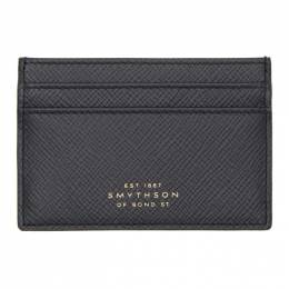 Smythson Navy Panama Card Holder 192087M16300101GB