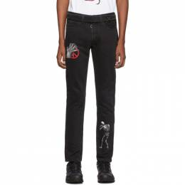 Off-White Black Undercover Edition Cutted Slim 5-Pocket Jeans 192607M18600802GB
