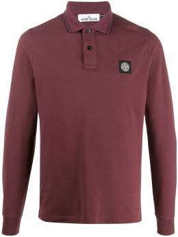 Stone Island - logo patch longsleeved polo shirt 9950SS98955930390000